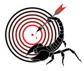 Target and scorpion — Stock Vector