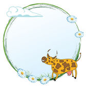 Cow on a meadow — Stock Vector