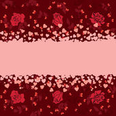 Valentine banner — Stock Vector