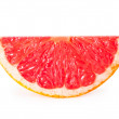 Stock Photo: Slices of grapefruit isolated on white background