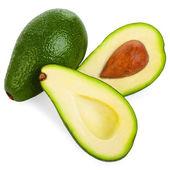 авокадо, изолированные на белом фоне — Стоковое фото
