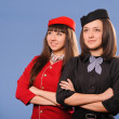 Flight stewardess - Stock Photo