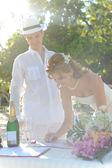 Wedding couple on Phuket — Stock Photo