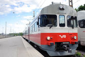 Front of local train — Stock Photo