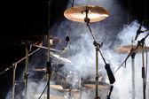 Percussie-instrumenten op scène — Stockfoto