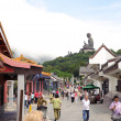 Stock Photo: Big Buddhon Lantau Island