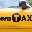 porta di taxi giallo di New York — Foto Stock