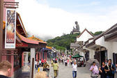 Big Buddha on Lantau Island — Stock Photo
