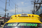 Yellow Taxi on Phuket — Stock Photo