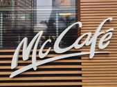 Mc Cafe. McDonalds restaurant — Stock Photo