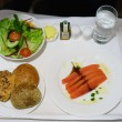 Stock Photo: Seafood on the plane