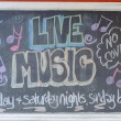 """live music"" inscription — Stock Photo"