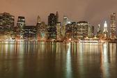 Lower Manhattan At Night — Stock Photo