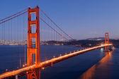 Puente golden gate de noche — Foto de Stock