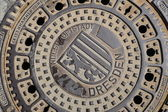 Hatch of sewage — Stock Photo