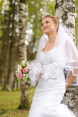Beautiful russian young bride — Stock Photo