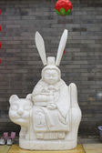 Chinese statue with big ears — Stock Photo