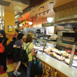 Costumers in Sbarro pizzeria — Stock Photo