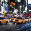Stock Photo: Yellow cabs