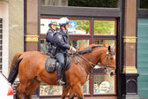 Mounted police officers — Stock Photo