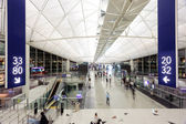 Hong Kong International Airport interior — Stock Photo