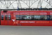 Aeroexpress red train — Stock Photo