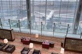 Emirates business class lounge — Stock Photo