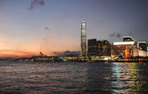 Hong Kong downtown skyscrapers — Stok fotoğraf