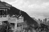 Uitzicht vanaf de victoria peak — Stockfoto