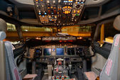 Aircraft cockpit interior — Stock Photo