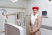 Emirate-crew-mitglied — Stockfoto
