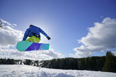 Man on the snowboard — Stock Photo