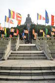 Giant bronze Buddha statue — Stock Photo