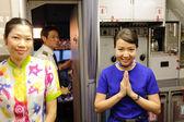 Crew members of Bangkok Air  — Stock Photo
