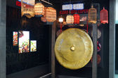 Gong in one of cafe in Dubai Airport — Foto de Stock