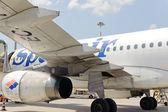 Spanair jet airplane — Foto Stock