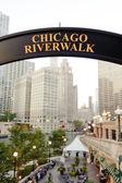 Chicago riverwalk — Stock Photo