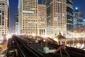 Metro ways in Chicago — Stock Photo
