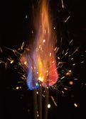 Colorful flame — Stock Photo