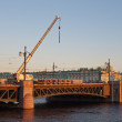 Stock Photo: Repair of Palace Bridge