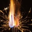 Fire and sparks closeup — Stock Photo
