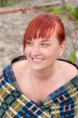 Dívka s červenými vlasy — Stock fotografie