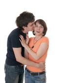 Beso inesperado — Foto de Stock