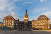 Christiansborg Palace in evening — Stock Photo
