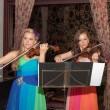 Violin duet of girls — Stock Photo #26907093