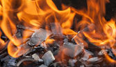 Burning wood close up — Stock Photo