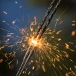 Sparklers close up — Stock Photo