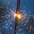 Sparklers closeup — Stock Photo