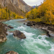 Stock Photo: Mountain river with rocks