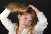 Portrét blondýna — Stock fotografie